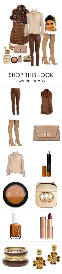 """""""Untitled #107"""" by arabakone ❤ liked on Polyvore featuring Ellen Tracy, Roberto Cavalli, Diane Von Furstenberg, Yves Saint Laurent, Iman, Gucci, Essie, Charlotte Tilbury, Chanel and women's clothing"""