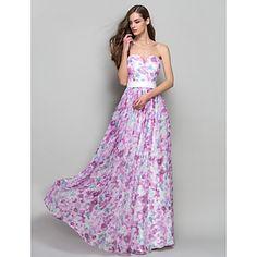 A-line/Princess Sweetheart Floor-length Chiffon Evening/Prom Dress – EUR € 73.99