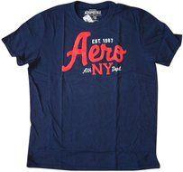 Aeropostale  Cotton Casual T Shirt  Color: Navy Size XL $12.95