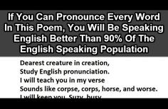 Only 1 In 10 People Can Pronounce Every Word In This Poem Correctly. Try Reading It Without Stopping
