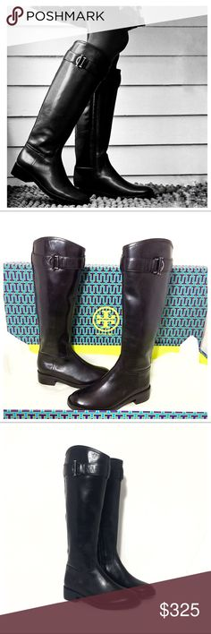 89348e6dd268 NIB Tory Burch Grace Knee High Riding Boots Brand new Tory Burch Grace  black leather equestrian boots. Gorgeous, luxury knee high riding boots w  impeccable ...