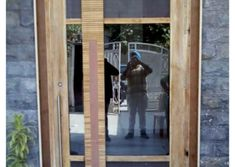 Homemade door design is or your luxury houses, you can choose fancy entrance doors prepared with glass grills or different framing. Glass Panel Door, Glass Panels, Door Design Photos, Entrance Doors, Luxury Homes, Home Improvement, Woodworking, Mirror, Interior