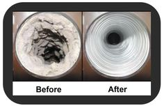 http://www.mrappliance.com/leland - This is what a clogged dryer vent looks like before and after. Can you see why it is so important to have yours cleaned?