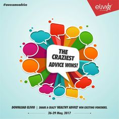 #contest #contestalert #awesomeadvice #contest Contest begins today......  We Indian love of give free advices to all. Share with us such crazy health advise you have every received and win exciting gifts.  5 craziest advices will win Book My Show Gift Voucher of Rs. 500/- each.  Participate in three simple steps.  1. DOWNLOAD ELIVIO APP and signup with code ELIVIO799 2. Like our Page 3. Comment your stories with hashtag #awesomeadvice