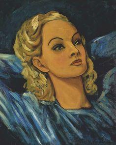 Francis Picabia - Portrait d'une blonde, c. 1942-43.