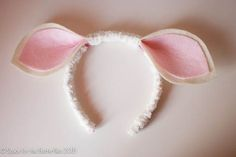 Space for the Butterflies | How to make a headband for a sheep! {handmade for Kitty} | http://spaceforthebutterflies.com
