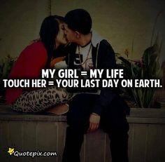 #ideffinatlydontgetjealous jk shes mine. Lay a finger on her. I dare you