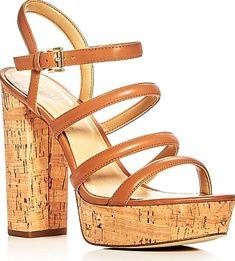 7c53cf831e5 Michael Michael Kors Nantucket Strappy Block Heel Platform Sandals - SANDALS  - Michael Michael Kors -