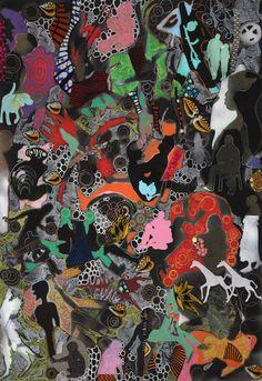 Untitled, Veronica Montanino, Opera contemporanea #ckcontemporary #art #painting #cityscape #contemporaryart
