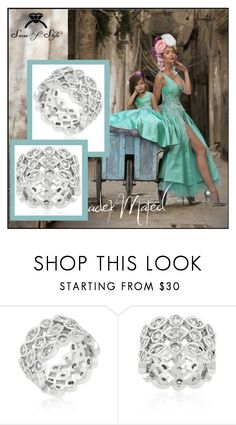 SENSE OF STYLE Beautiful Wedding Engagement Ring!  AAA Highest Quality Diamond Simulated www.etsy.com/shop/SenseofStyle1 on Polyvore