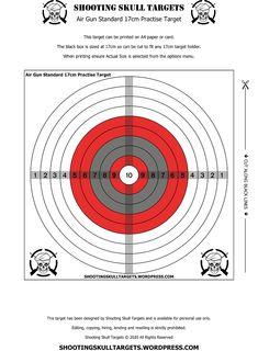 Pistol Targets, Rifle Targets, Bullet Casing Crafts, Target Practice, Air Rifle, Vintage Air, Black Box, Free Printables, Guns