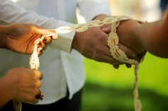 DIY Ceremony - this couple used a handfasting ceremony, and I really like how they worded most of their  program.