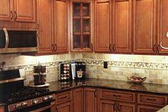 tile backsplash dark countertop : Tile Backsplash Ideas With Black Granite Countertops – Kitchen Design Inspiration