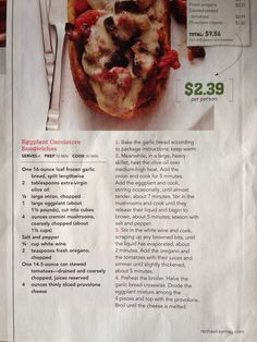 Eggplant cacciatore sandwiches from Rachael Ray Mag