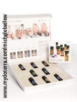 AromaTouch® Technique Kit Increase the benefits you experience with CPTG® Essential Oils by incorporating the AromaTouch® Technique into your healthy lifestyle philosophy. This kit contains 5 ml bottles of: Balance, Lavender, Peppermint, Melaleuca, Wild Orange, AromaTouch, Deep Blue®, and On Guard. Also included is the AromaTouch DVD. Visit www.mydoterra.com/micheleballew