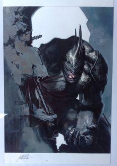 Gabriele Dell'Otto - Rhino xxl published litho Comic Art
