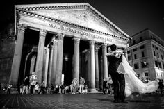 Rome, the Pantheon. Can you see her happiness? :)