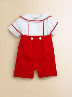 Florence Eiseman - Infant's Sailor Shirt & Velvet Shorts Set