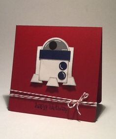 R2D2---punch art card - may the force be with you