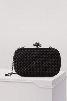 6a6a64c392 Bottega Veneta Clutch with a chain - black designer clutch bag Bottega  Veneta