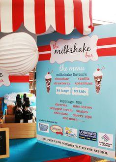 milkshake bar fundraiser