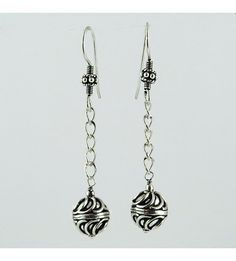 My Sweet ! Beads Design 925 Sterling Silver Earring, Weight: 6.4 g, Size - 5.5 x 1.0 cm, Wholesale Orders Acceptable, All Pieces have 925 Stamp