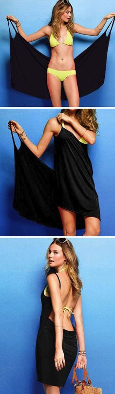 Take a look at the best bikini cover ups in the photos below and get ideas for your own outfits! Floral Beach & Poolside Bikini Cover Up, Turquoise Image source Diy Fashion, Fashion Outfits, Womens Fashion, Summer Wear, Summer Outfits, Looks Style, My Style, Bikini Cover Up, Swimsuit Cover