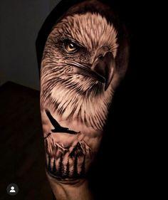 Wolf Tattoos, Bald Eagle Tattoos, Shark Tattoos, Cool Arm Tattoos, Badass Tattoos, Animal Tattoos, Leg Tattoos, Animal Sleeve Tattoo, Best Sleeve Tattoos