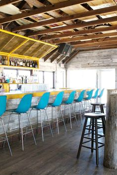 No beachside kitsch here. The Surf Lodge decor is all recycled driftwood and reclaimed nautical touches. #Jetsetter