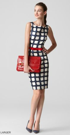 Milly Adrianne Sheath.  Love this sheath dress.  Such a fun print/color to spice up the style!