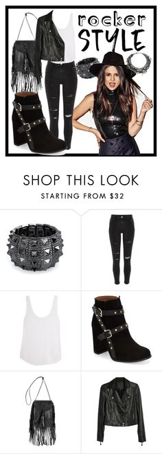 """""""Rocker Chic...."""" by crazyuniquestupidgirl ❤ liked on Polyvore featuring Bling Jewelry, River Island, Frame Denim, Topshop, Yves Saint Laurent, Paige Denim, Erickson Beamon, rockerchic and rockerstyle"""