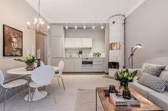 White tile stove