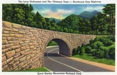 Great Smoky Mts. Nat'l Park, TN - Newfound Gap Hwy View of the Loop Underpass