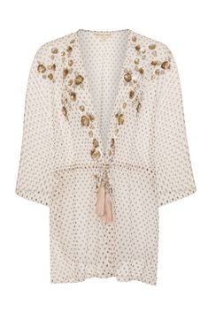 Womens Polka Dot Embellished Kimono Cover Up Beach Jacket Summer UK 8 10 12 14 Frock And Frill, Kimono Jacket, Frocks, Beachwear, Cover Up, Polka Dots, Bell Sleeve Top, Clothes For Women, Coat