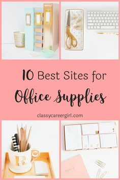 If you love office supplies as much as we do, you'll love this list to browse for your favorite monogrammed stationery and don't forget a pink stapler!