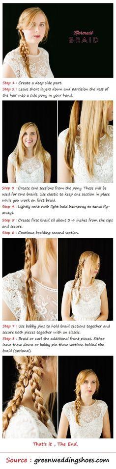 The Mermaid Braid Hair Tutorial | Beauty Tutorials by imad karrari