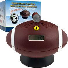 Football Digital Coin Counting Bank, Brown