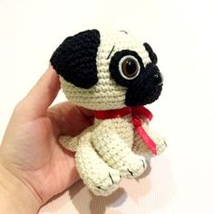 Crochet a cute souvenir for your loved one with the help of this step-by-step Baby Pug Dog Amigurumi Pattern.