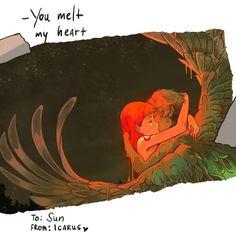 Vc derrete meu coração <3