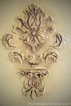 how to create a raised stencil on furniture, how to, painted furniture, rustic furniture