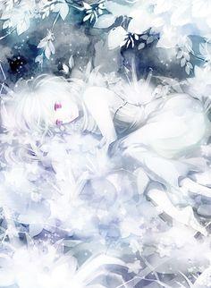 Sad anime ghost girl ~