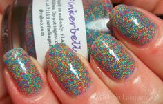 Today I am showing you Pinkerbell by NailVenterous, a brand I'm sure most of you are familiar with because it has recently taken the nail polish comm...  #blue #confetti #red #yellow #nails #nailpolish