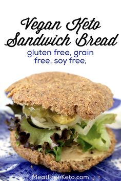 Low Carb Vegan Sandwich Bread Meat Free Keto a gluten free grain free keto roll recipe thats so tasty you wont miss real bread Low Carb Vegetarian Diet, Vegan Keto Diet, Vegan Keto Recipes, Tofu Recipes, Ketogenic Diet, Eating Vegan, Vegan Raw, Diet Recipes, Tilapia Recipes
