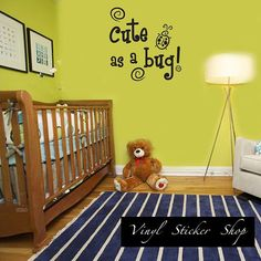 Cute as a bug Decal Child Teen Vinyl Wall by TheVinylStickerShop