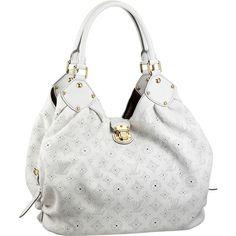 Louis Vuitton Mahina L White Handbag