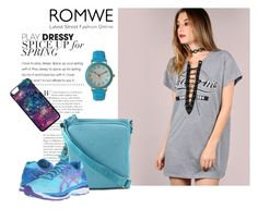 """Romwe dress"" by aurorab-i ❤ liked on Polyvore featuring Tommy Hilfiger and Olivia Pratt"