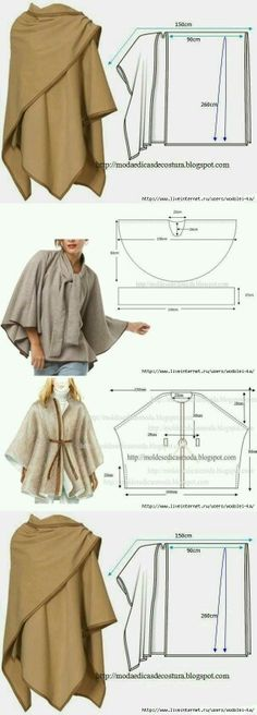 Patterns for Capes and Wraps | 30 C Vogue Patterns 8122 (Capes ...