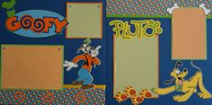 Pluto and Goofy 2 page 12x12 disney scrapbook by ScrapnGoMemories, $8.00