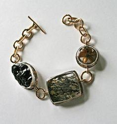 Kirsten Muenster - Glacier Agate, Dendritic Quartz, Rutilated Quartz, Recycled Sterling Silver & Brass