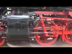 VSM spectaculair stoomtrein achtervolging. Big German steamtrain Dampflok Parallelfahrt. - YouTube
